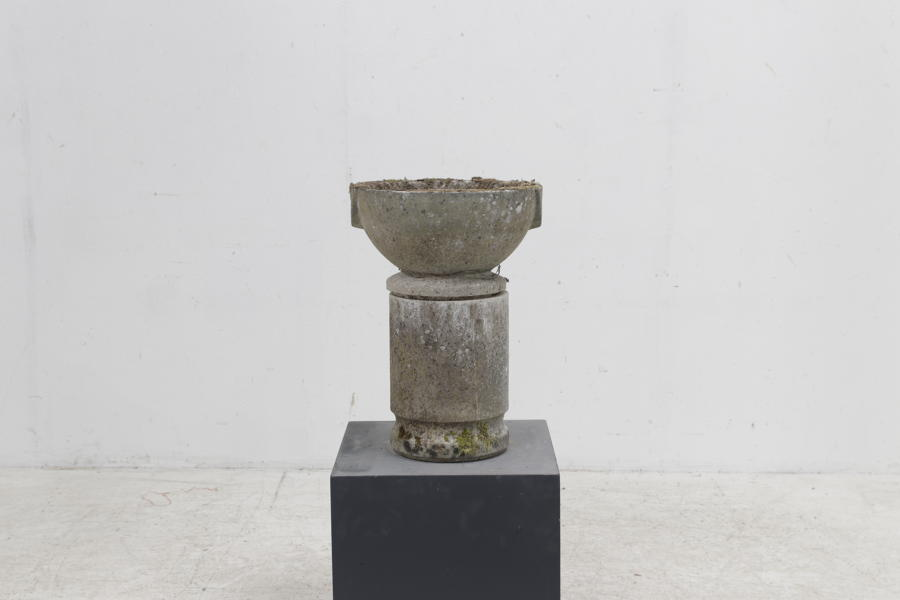English Composite Stone Mofar Shape Urn on Stand