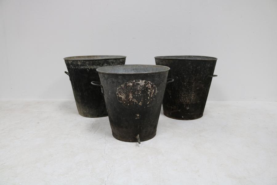 Zinc planters French 1930s