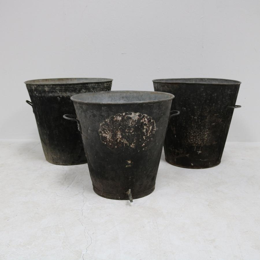 Zinc planters French 1930s