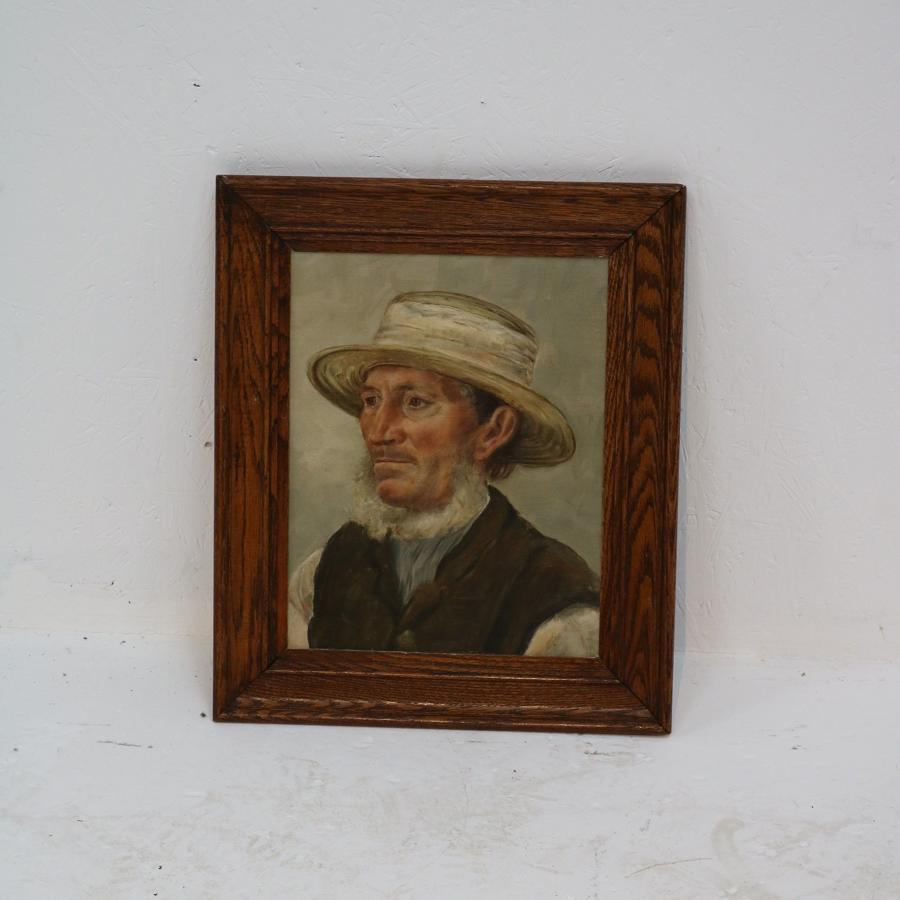 19th century painting of an Amish man