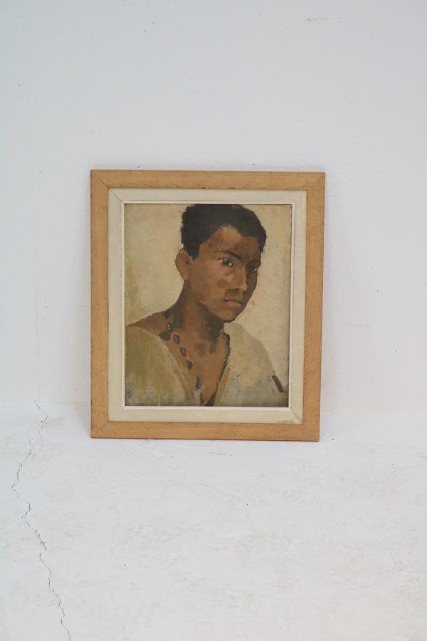A 20th century oil on canvas portrait