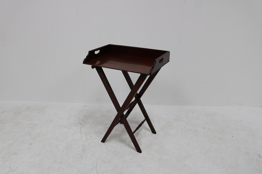 An English mahogany butlers tray table circa 1840