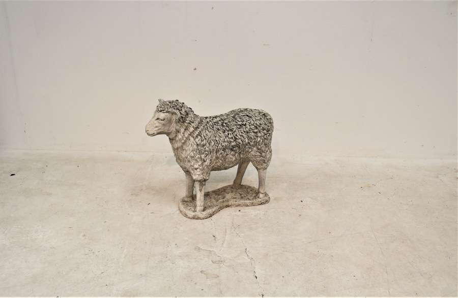 20th century composite stone sheep
