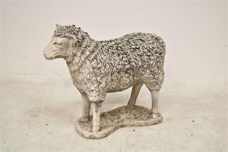 20th century composite stone sheep