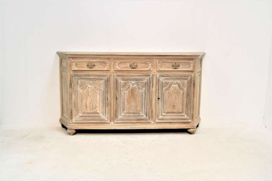 Early 20th century canted corner oak enfilade