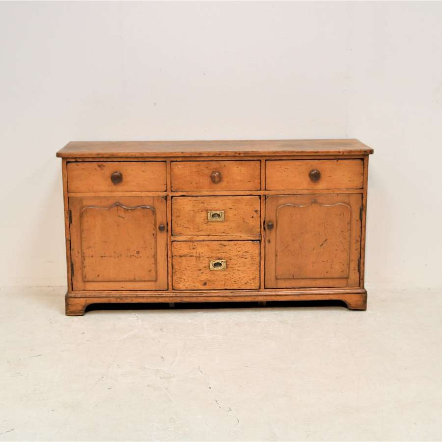 A 19th century pine Welsh dresser base circa 1840
