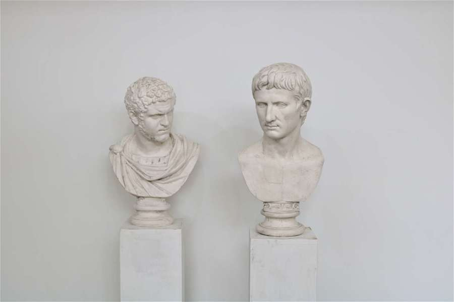 20th century plaster busts