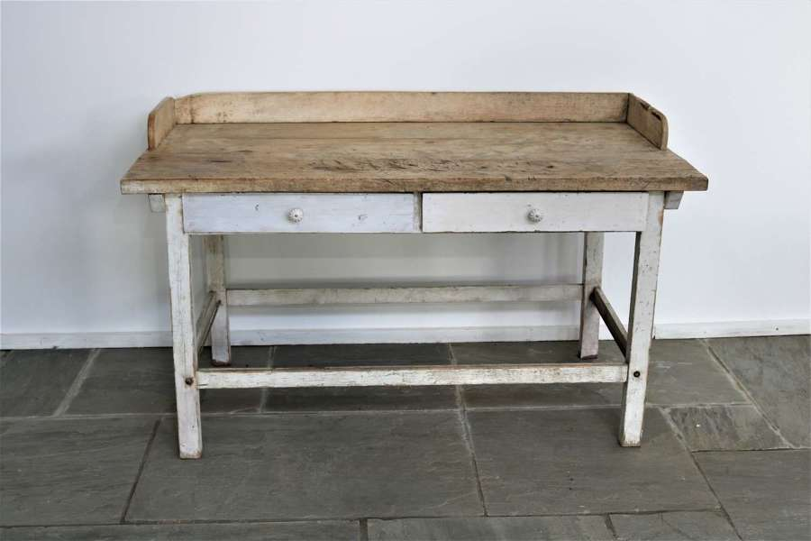 A French scrubbed bakers table circa 1890
