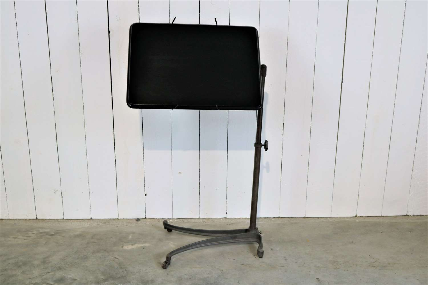 Early 20th century ebonised adjustable reading stand